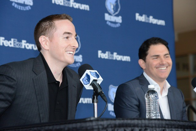 New Grizzlies chairman Robert Pera and CEO and managing partner Jason Levien make their public debut.