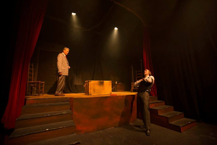 James Dale Green and Gabe Beutel Gunn in The Woman in Black - PHOTO: CHASE GUSTAFSON/CHASING PHOTOGRAPHY