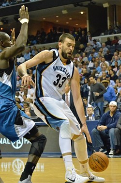 Marc Gasol got going down the stretch of the fourth quarter after struggling for the last two or three games. - LARRY KUZNIEWSKI