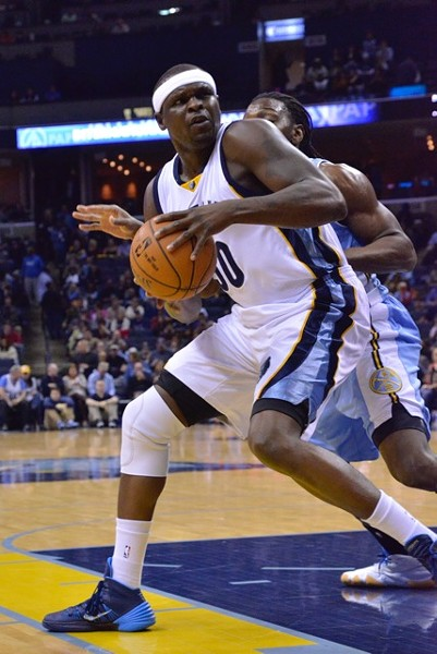 Zach Randolph's streak of double doubles ended last night against Phoenix. - LARRY KUZNIEWSKI