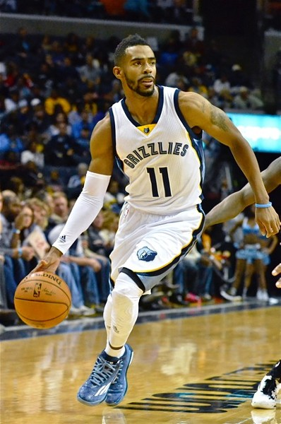 Mike Conley played 41 minutes last night and Tony Allen played 46 in a 2OT win over the Charlotte Hornets. - LARRY KUZNIEWSKI
