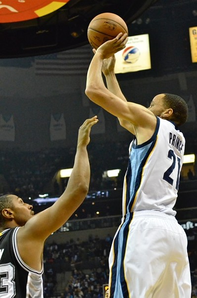 Tayshaun Prince had 20 points on 8-11 shooting, including a perfect 4-4 from long range. - LARRY KUZNIEWSKI