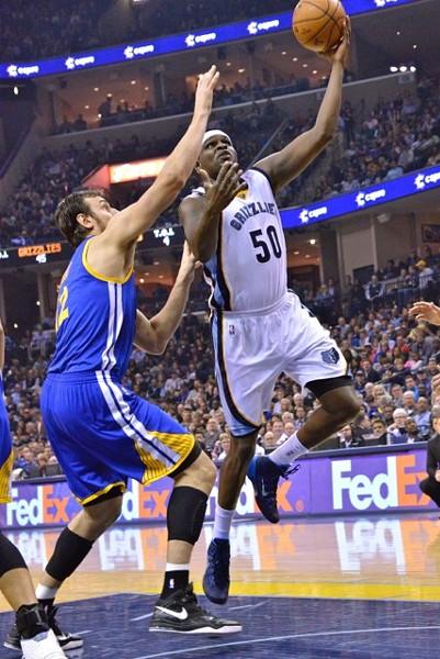 Zach Randolph struggled to make anything happen against the Warriors' defense. - LARRY KUZNIEWSKI