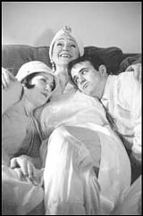 Nora Stillman, Anne Marie Hall, Guy Olivieri in Hay Fever.
