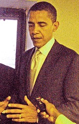 Obama on a Nashville stop last year - JB