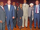 JB - Odom (second from left) and Williams (far right) with Memphis Democrats two weeks ago