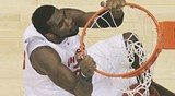 """AP PHOTO - Ohio State's Greg Oden showed he wasn't """"overrated."""""""