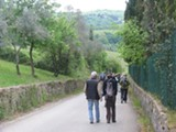 On foot in the hills of Tuscany