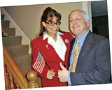 On Halloween, Angie and Paul Shanklin play you know who in Cordova. (And if you DON't know, it's Palin and McCain, of course.) - PIC COURTESY OF ANGIE AND PAUL SHANKLIN