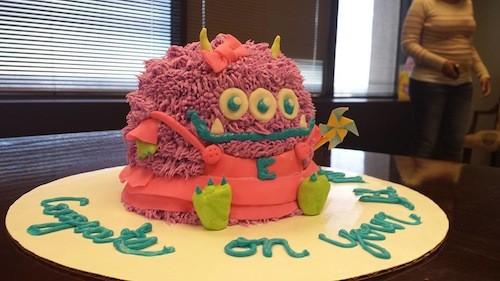 One Cake Villains custom cakes. Isnt it cute, er, evil?