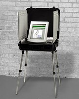 One o' them complicated new-fangled votin' machineries.