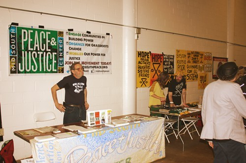 One of the many booths set up inside the Creative Arts Building.