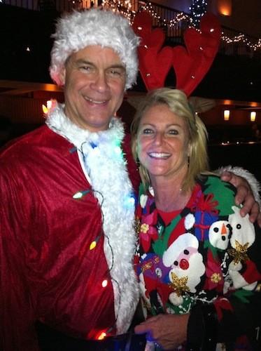 Opening Credits Santa and Tacky Sweater-wearer