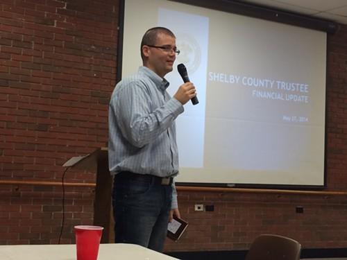 Pablo Pereya addressing East Shelby GOP members