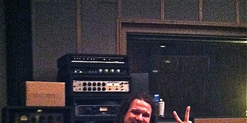 Patrick Dodd relaxes after nailing his overdubs.