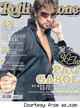 Pau Gasol on the cover of Rolling Stone