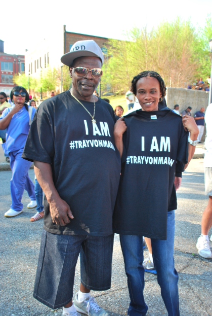 People in I Am Trayvon Martin tees peppered the crowd.