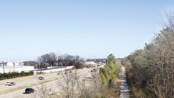 Perkins overpass looking east