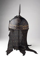"Persian helmet, part of ""Armed and Dangerous"" at the Brooks (collection of Berkshire Museum)"