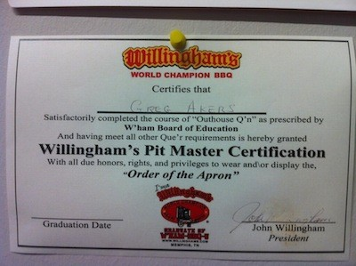 Pit Master Certification