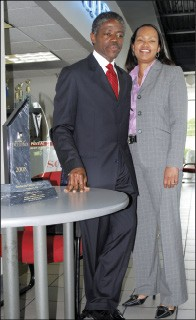 Pontiac dealer Henry Ware (pictured with wife Cynthia) received one of the last sales awards for the dying brand.