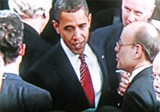 President Obama and Congressman Cohen on the House floor after the speech