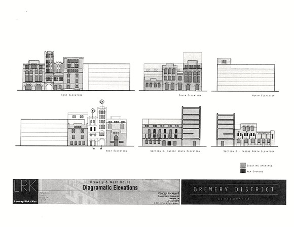 Proposed exteriors of the buildings in the new Tennessee Brewery District project.