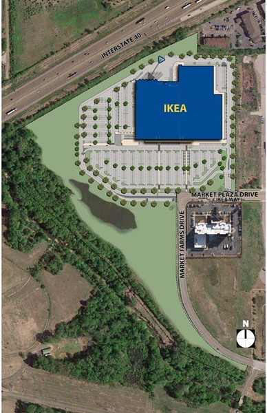 Proposed site plan for Ikea Memphis. - IKEA