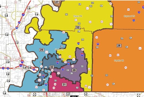 Proposed state Senate districts, Shelby County