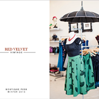 Red Velvet Vintage - Boutique Peek - Winter 2015