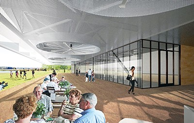 Rendering of new Shelby Farms Park visitors center - SHELBY FARMS PARK CONSERVANCY