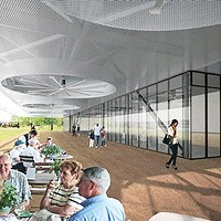Rendering of new Shelby Farms Park visitors center