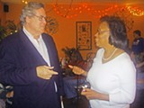 JB - Reps. Mike Kernell and Lois DeBerry at Kernell's weekend fundraiser. Each has a GOP opponent named Tim Cook.