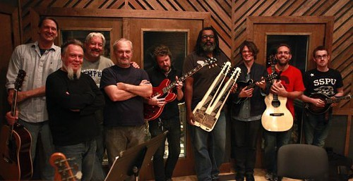 Rick Steff, Greg Morrow, Sam Shoup, Steve Selvidge, Alvin Youngblood Hart, Luther Dickinson, Keving Houston, and Daniel Lynn