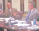 JB - Robert Lipscomb meets Greg Ericson halfway at Wednesday's meeting