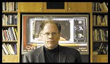 Robert McChesney, a professor of communications at the University of Illinois and co-founder of the Free Press media-reform Web site, poses at his home in Urbana, Illinois, April 29, 2004. McChesneys book The Problem of the Media: U.S. Communication Politics in the 21st Century shines needed light on how the media really operates. - AP PHOTO/TOM ROBERTS