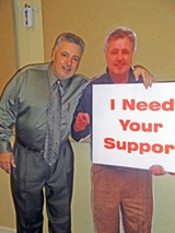 JB - Roland with prop likeness during his commission campaign.