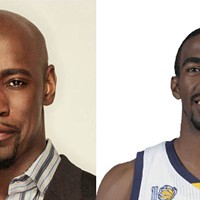Memphis Grizzlies: The Movie Rounding out the core four, Mike Conley takes the point as imagined by Buffy the Vampire Slayer actor D.B. Woodside. Note: On the air, I pegged Jamie Foxx for the part, but I think Foxx is too flashy and big a name for the subtle elegance required to get Conley right.