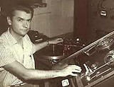 Sam Phillips at the Sun Studio control board.