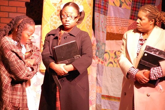 Sameka Johnson, Patrice Jordan, Detra Payne in the Hattiloo's production of The Bluest Eye