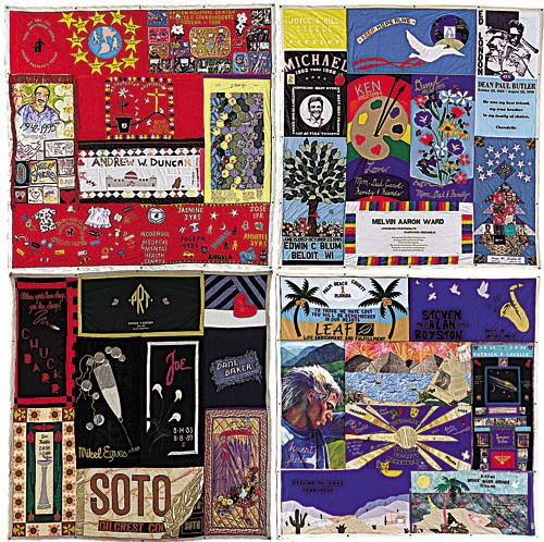 Sections of the AIDS Memorial Quilt