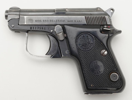 Semi-automatic .25 caliber pistol