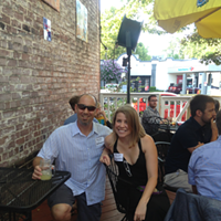 The Flyer's Who's Who of Twitter Tweetup in Pictures! Seth Agranov (@BestMemphisBurger) and Stephanie Bennett (@stephMEM)