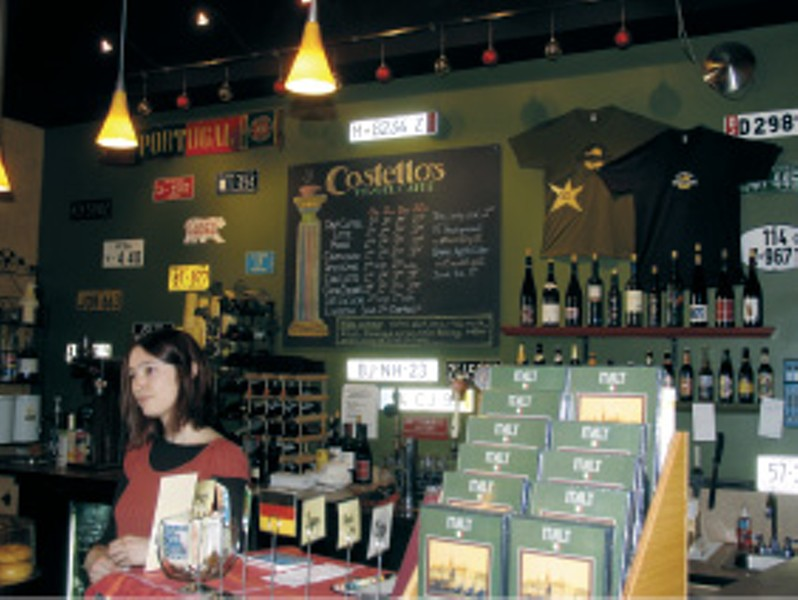 Share trip videos with friends, practice your French, or watch international soccer matches at Costello's Travel Caff in Portland.