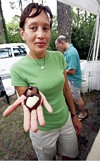 Sharon Fajans shows off her handmade truffles.