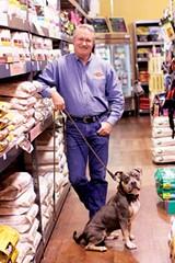 JUSTIN FOX BURKS - Shawn McGhee with his dog Atlas