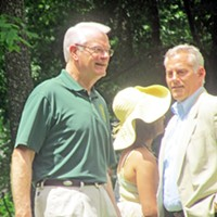 Sidney Chism Picnic 2013 Shelby County Mayor Mark Luttrell with County Commissioner Steve Basar JB