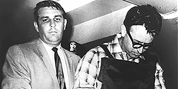 Sheriff Bill Morris during the booking, arrest, transporting, and incarceration of James Earl Ray in 1968.