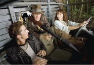 Shia LeBeouf, Harrison Ford, and Karen Allen