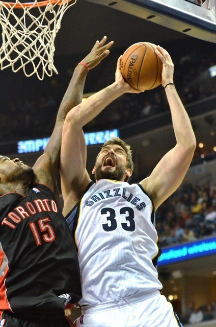 Should Marc Gasol really return in two weeks, someone will be crowded out of the Grizzlies frontcourt.